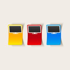 realistic design element: monitor