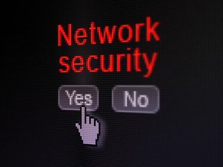 Protection concept: Network Security on digital computer screen