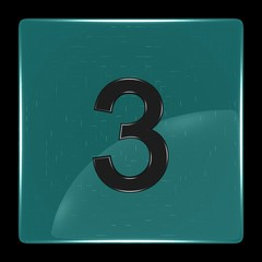 Green icon with number three