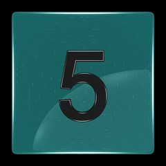 Green icon with number five