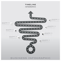 Road And Street Traffic Sign Timeline Business Infographic Desig