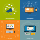 Icons for web design, seo, social media poster