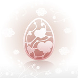 Easter egg ornate pattern design 01