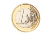One euro coin closeup