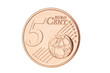 Five euro cent closeup