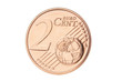 Two euro cent closeup