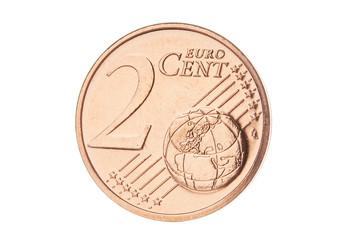Two euro cent closeup