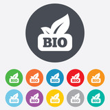 Bio product sign icon. Leaf symbol.