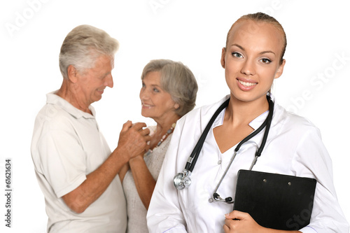 Elderly patients came to visit a young doctor