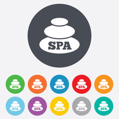 Spa sign icon. Spa stones symbol.