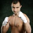 Boxer in Kampfstellung
