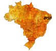 pernambuco state on map of brazil