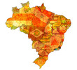 rio de janeiro state on map of brazil