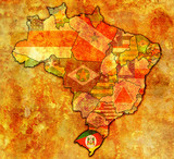 rio grande do sul on map of brazil