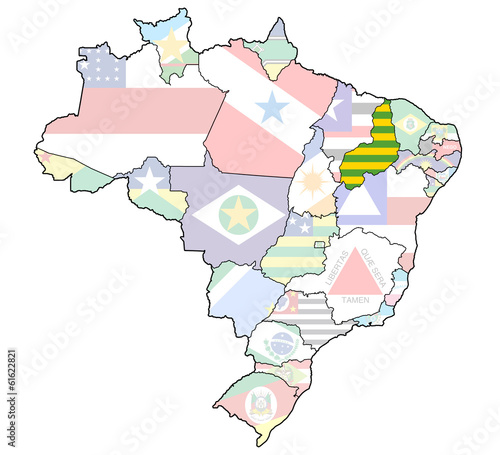 piaui state on map of brazil