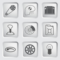 Car part and service icons set 2.