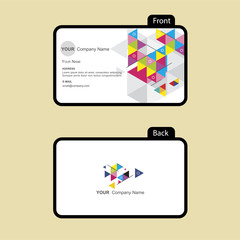 business card color triangle style