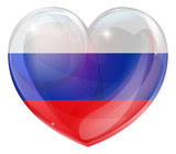 Russian flag love heart
