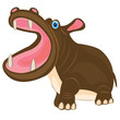 Cartoon animal hippopotamus
