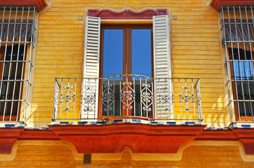 The balcony of Andalusian manor house