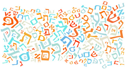 hebrew alphabet background