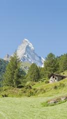 Zermatt, Bergdorf, Schweizer Alpen, Matterhorn, Wanderweg