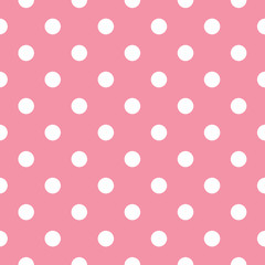 Pink polka dot seamless pattern design
