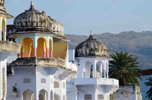 Beautiful hindu architecture of Pushkar,Rajasthan,India