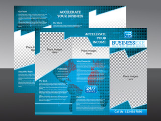 abstract corporate tri fold brochrue