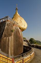 Kyaiktiya pagoda. Golden rock. Myanmar.