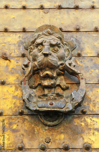 Bronze knocker, Mosque Cathedral of Cordoba, Spain