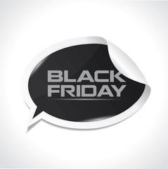 Black Friday bubble sticker