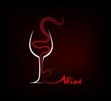 Wine Silhouette - 61626217