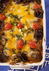 Delicious aubregine vegetable bake