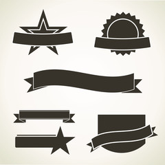 Simple vintage emblems - vector icons