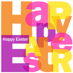 """""""HAPPY EASTER"""" Letter Collage (icon symbol card celebration)"""