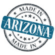made in Arizona blue round grunge isolated stamp