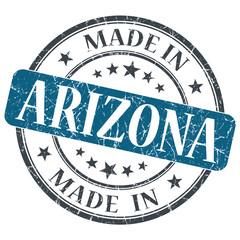 made in Arizona blue round grunge isolated stamp