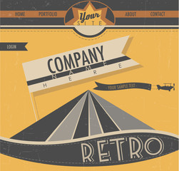 Website template in retro style.
