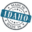 made in Idaho blue round grunge isolated stamp