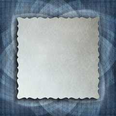 Blank paper sheet on patterned background