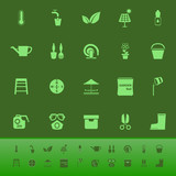 Home garden color icons on green backgroundai
