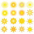 sunshine vector icon