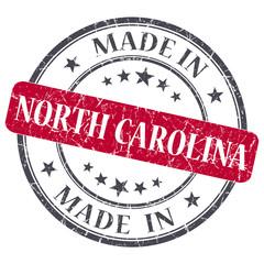 made in North Carolina red round grunge isolated stamp