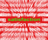 Satisfaction Word Shows Enjoyment Contentment And Fulfilment