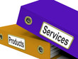 Services Products Folders Show Business Service And Merchandise