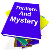 Thrillers and Mystery Book Stack Shows Genre Fiction Books