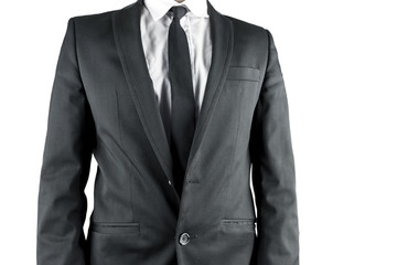 Torso of a businessman in a suit