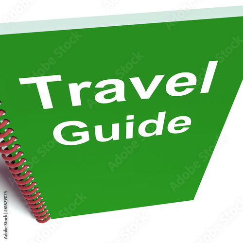 Travel Guide Book Represents Advice on Traveling