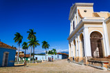 Main square in Trinidad, typical view of small town, Cuba